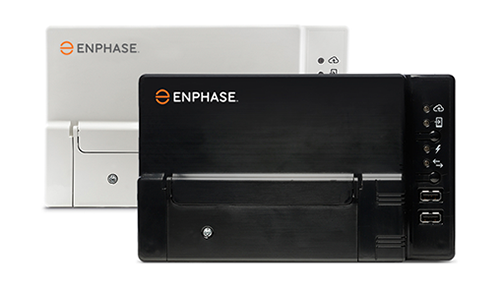 Image of two Envoy-S products, one with black case and one with white case