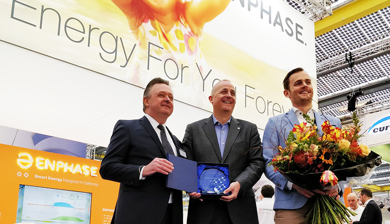 Enphase Receives the Solar Innovation Award 2018 for Its IQ 7 Microinverter Series