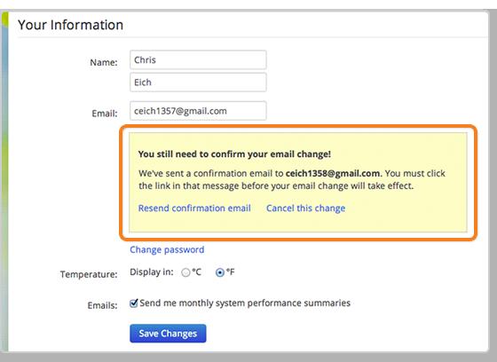how do i change my email address enphase