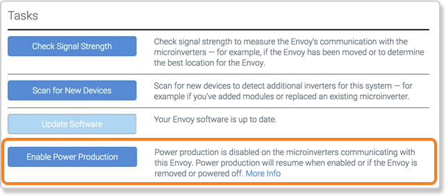 How do I disable and enable power production? | Enphase
