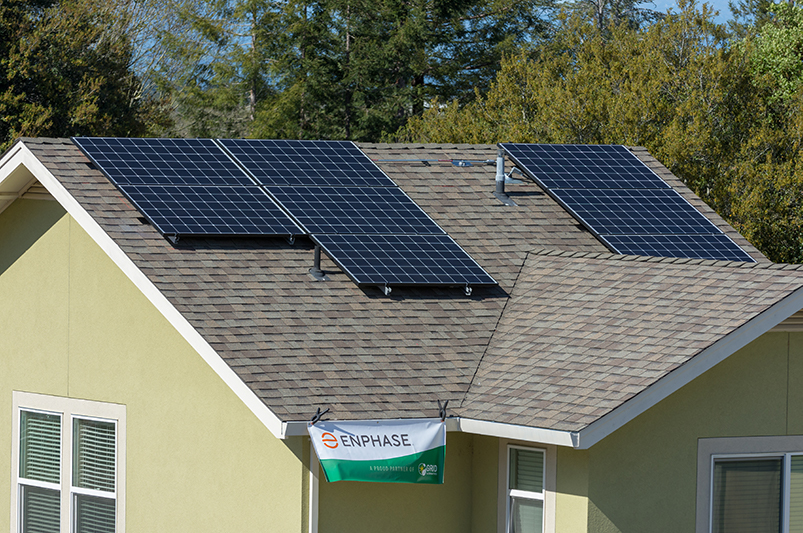 Enphase solar installation at homeowners