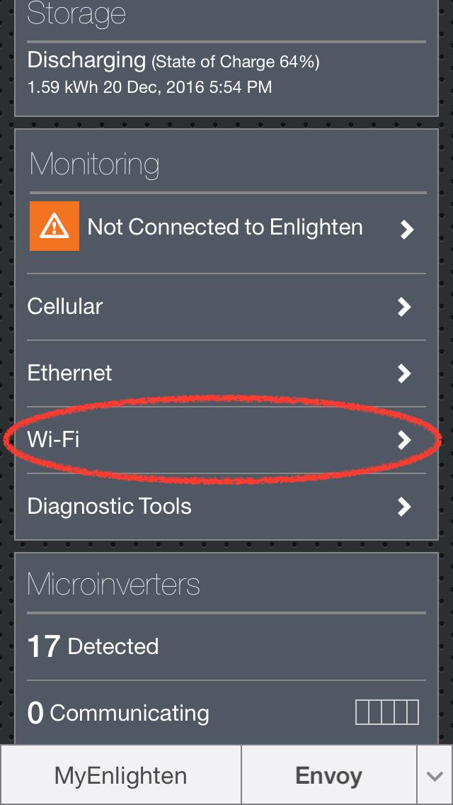 Enphase Envoy Wi-Fi Setup