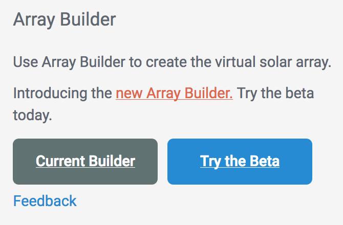 Array Builder access buttons