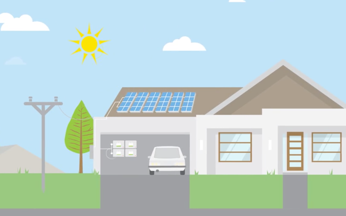 The Enphase Home Energy Solution - video still of house