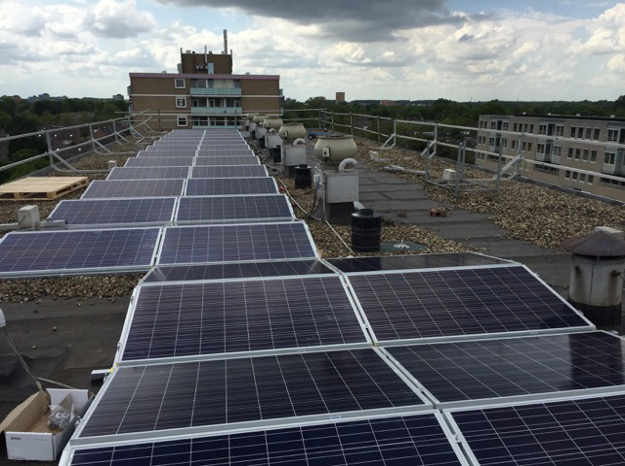 To make the best use of limited space, 100% Zonnig utilised Enphase design flexibility to install a 105-module split PV solar array.