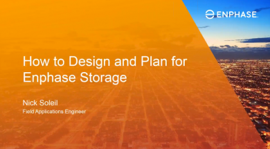 Webinar: How to Design and Plan for Enphase Storage (recording)
