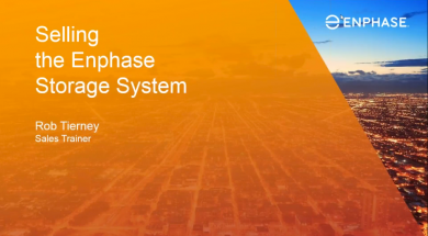 Sales Webinar: How to Sell Enphase Storage (recording)